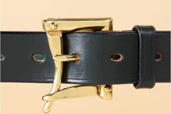 """1 1/4"""" Winchester Bridle Leather Belt in Equus Green"""